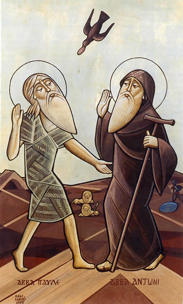 St Anthony and Paul the hermit